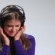 Funny Teenage Girl Listening Radio with Headphones - VideoHive Item for Sale