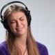 Excited Brunette Girl in Headphones Enjoying Music - VideoHive Item for Sale