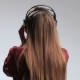 Party Woman with Headphones Listening To Music - VideoHive Item for Sale
