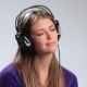 Beautiful Sad Pensive Young Woman in Headphones - VideoHive Item for Sale