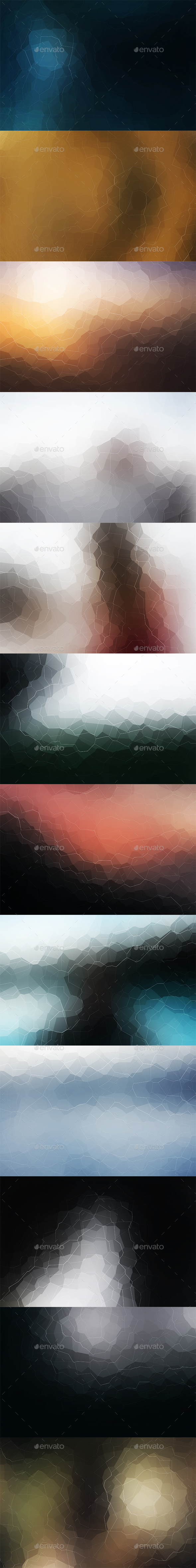 Crystallized Backgrounds Vol5 - Abstract Backgrounds