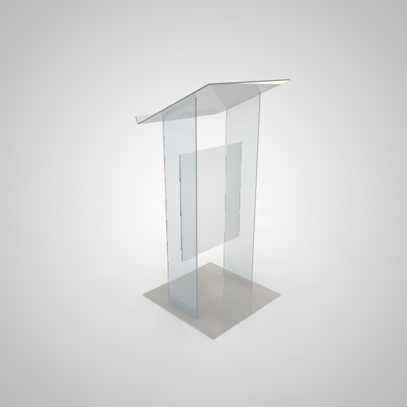 Plexi podium - 3DOcean Item for Sale