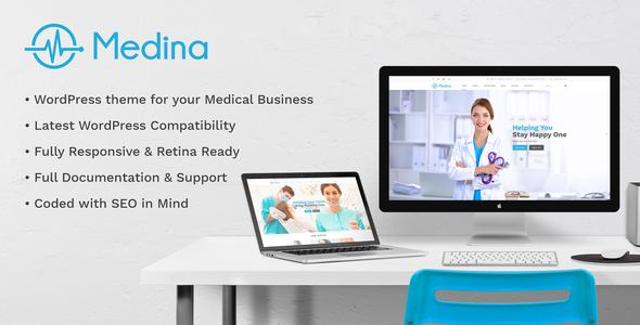 Medical Medina | Medical Health Doctor Medical Clinic Dentist Clinic and Shop WordPressTheme