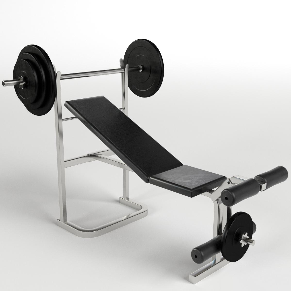 Gym Equipment Bench Weight By Francescomilanese 3docean
