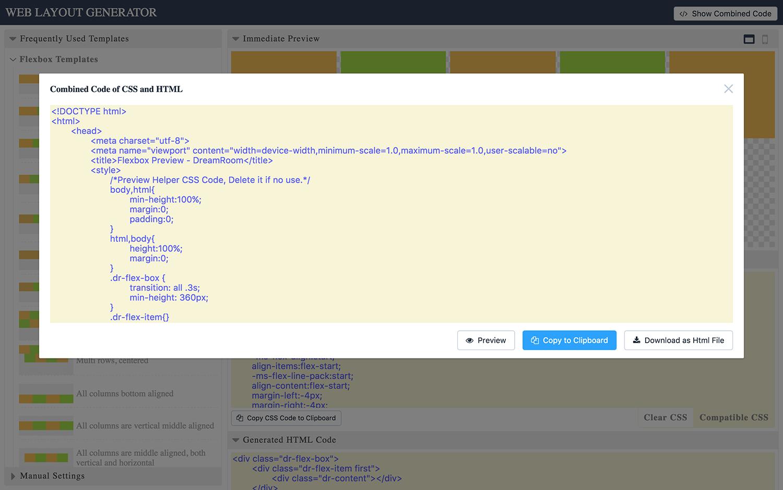 Web Layout Code Generator By Dreamroom Codecanyon