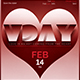 Valentines Day Flyer Template V11 - GraphicRiver Item for Sale