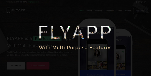 Flyapp –  Bootstrap Landing Page