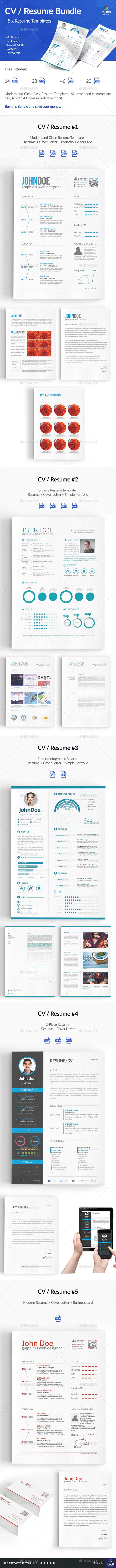 5 x Resume / CV - Resumes Stationery