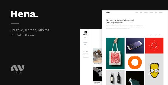 Hena – Minimal Portfolio Template