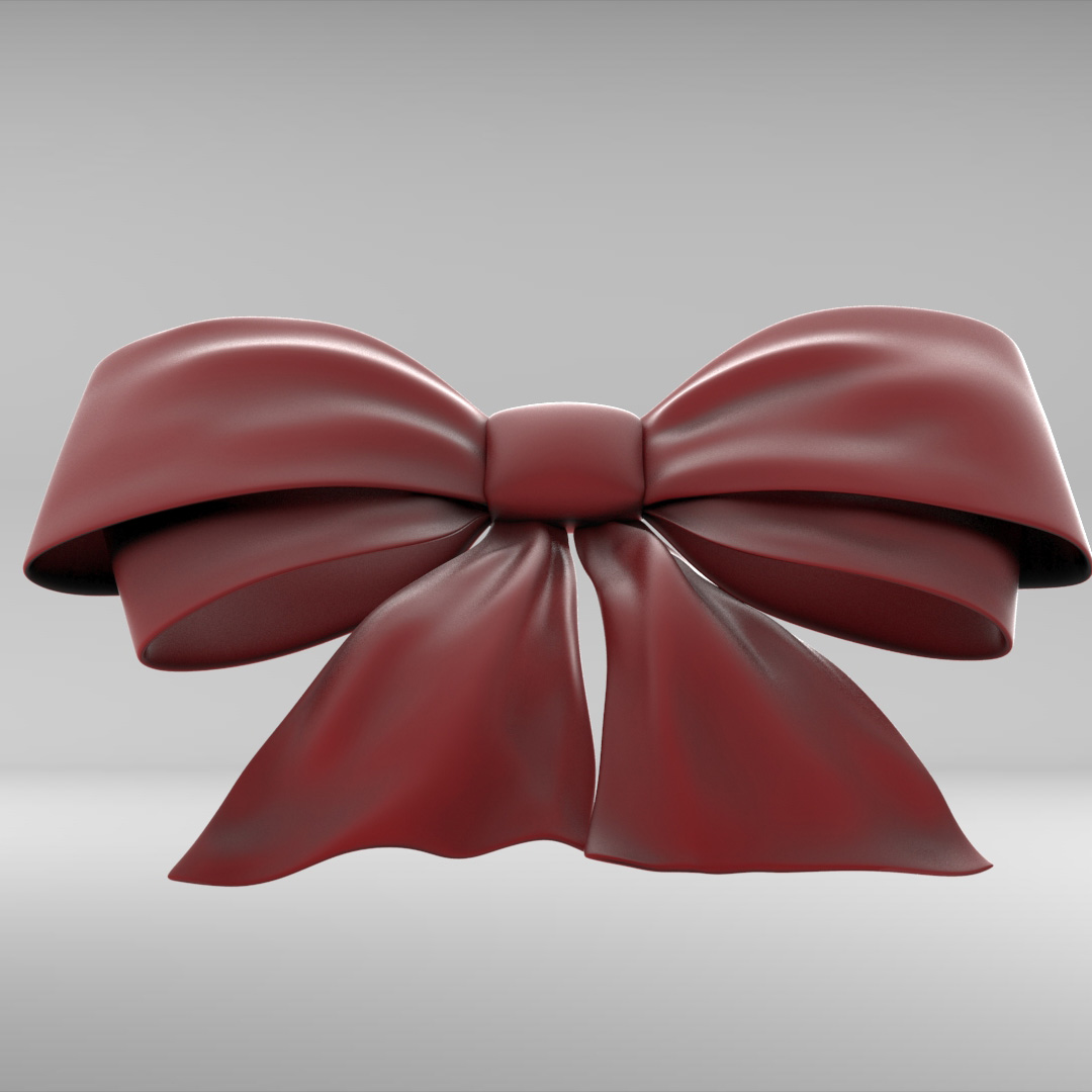 Ribbon Bow By Alexdancer 3docean