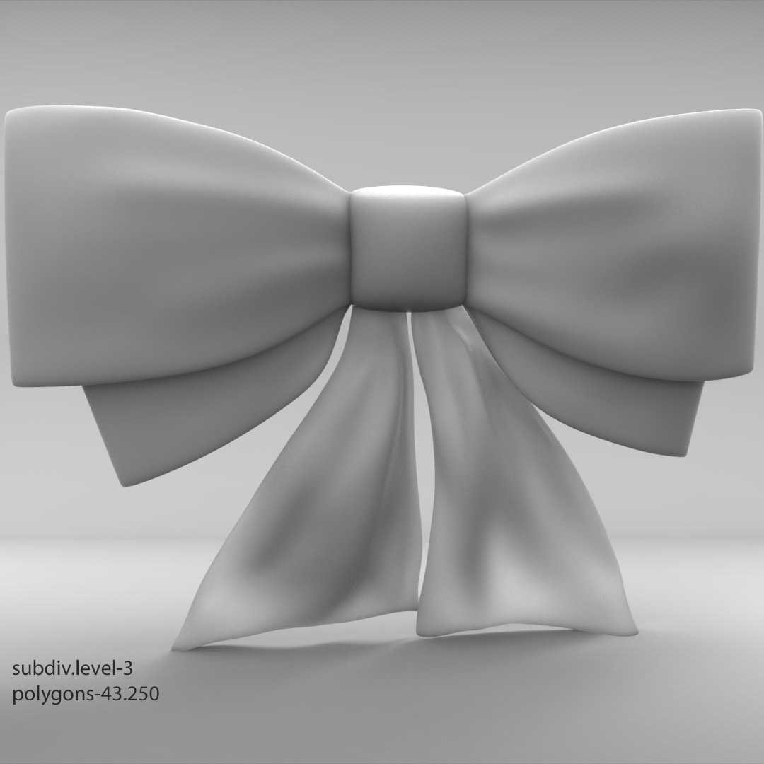 Ribbon bow by alexdancer 3docean ribbon bow baditri Image collections