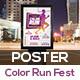 Color Run Festival Poster Template