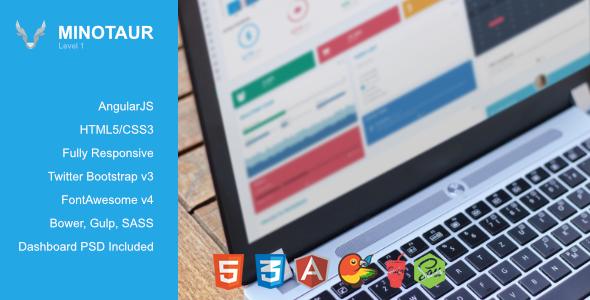 Minotaur – Angular Admin Dashboard