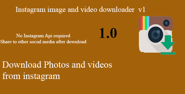 InstaSaver Instagram Images and Videos Downloader with hashtag - CodeCanyon Item for Sale