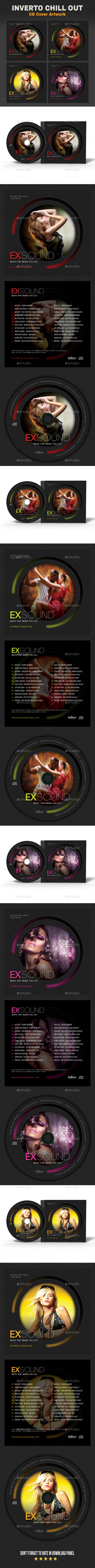 Exsound Music CD Cover V4 - CD & DVD Artwork Print Templates