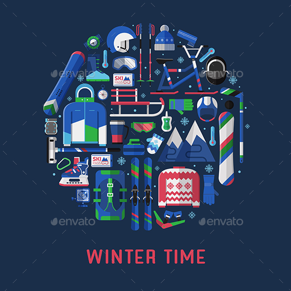 Winter Time Background - Sports/Activity Conceptual