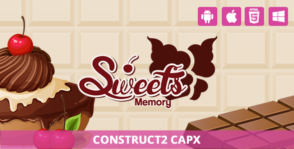 Sweet Memory - HTML5 Game (Capx) - CodeCanyon Item for Sale