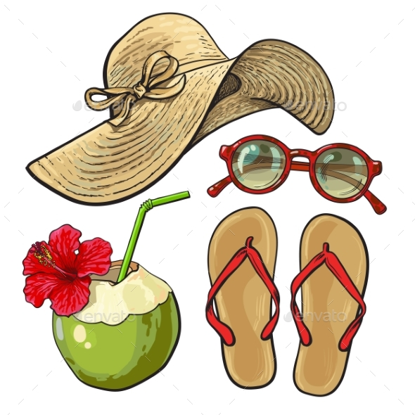 Summer Time Vacation Attributes - Travel Conceptual