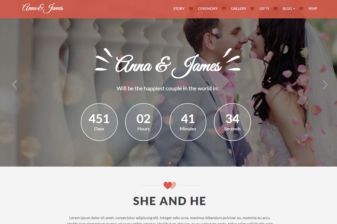 Amore Wedding | HTML5 Bootstrap Template for Weddings by _themebear