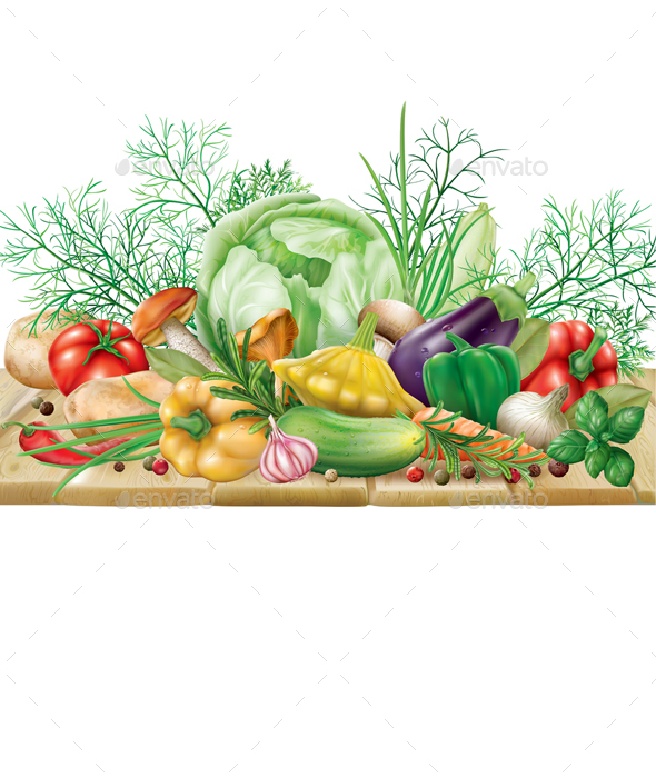 Vegetables Collection on a Wooden Surface - Food Objects