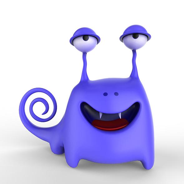 Dinki Cartoon monster - 3DOcean Item for Sale
