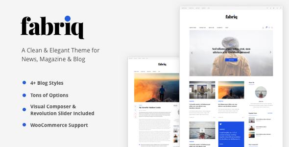 Fabriq – Personal WordPress Blog Theme