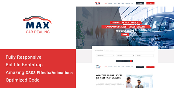 Max Car Dealing – HTML Template