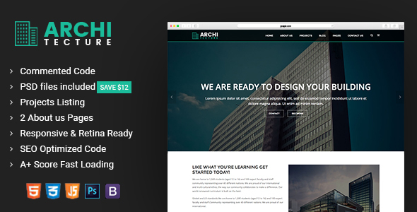 Architecture - Interior Design, Decor & Architecture Template - Business Corporate