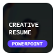 Creative Resume PowerPoint Template - GraphicRiver Item for Sale