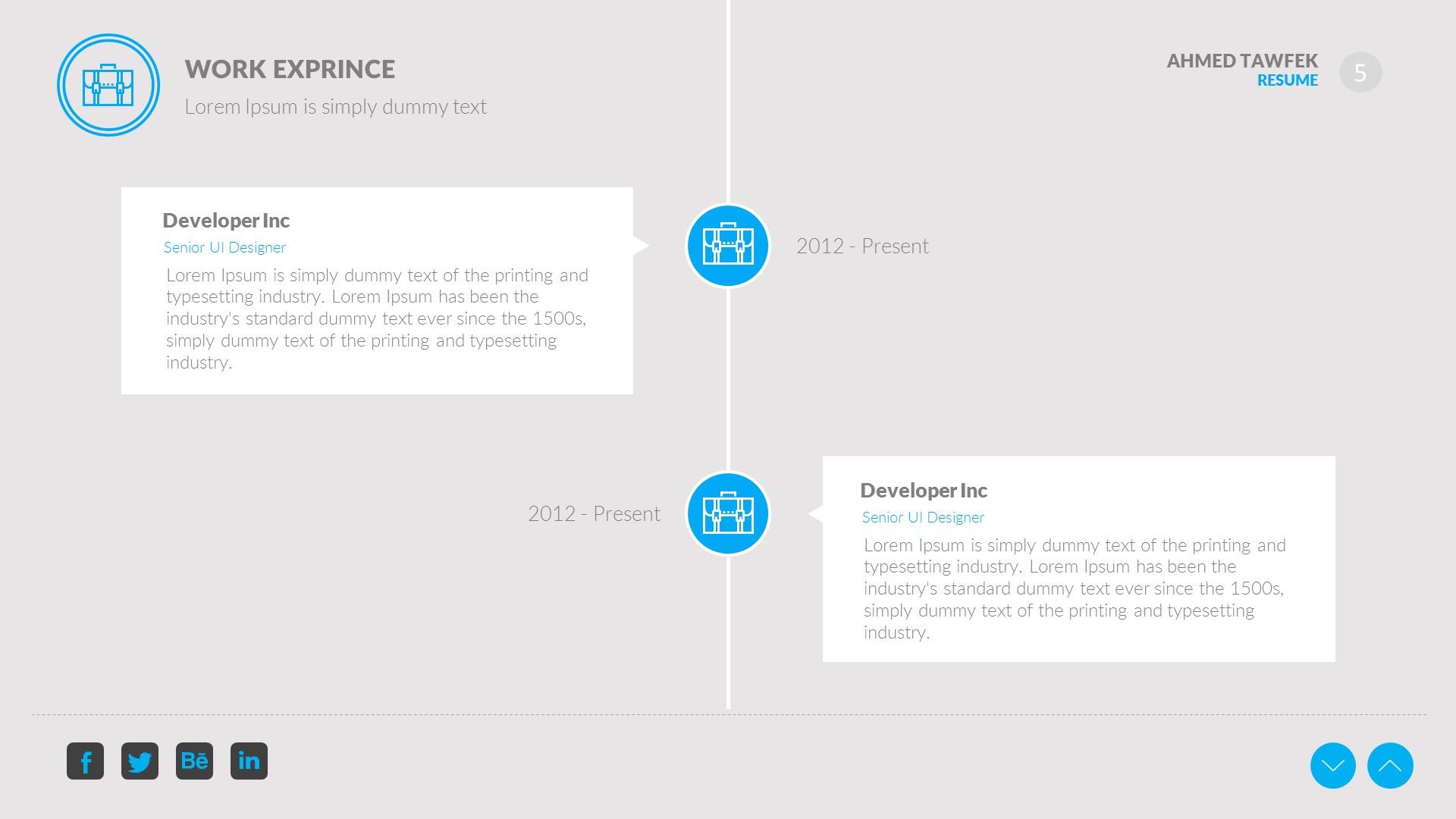 creative resume keynote template by ahmedtawfek graphicriver