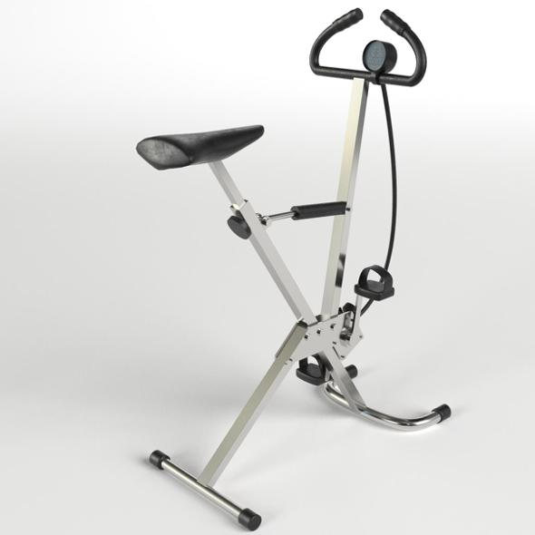 Gym Equipment - Cyclette Stationary Bicycle - 3DOcean Item for Sale