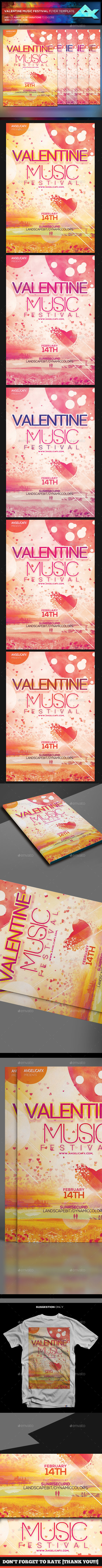 Valentine Music Festival - Events Flyers