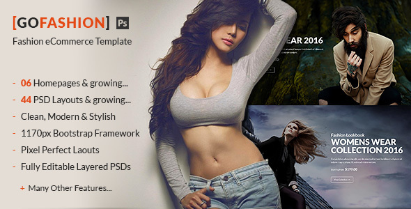 GoFashion – Fashion eCommerce PSD Template