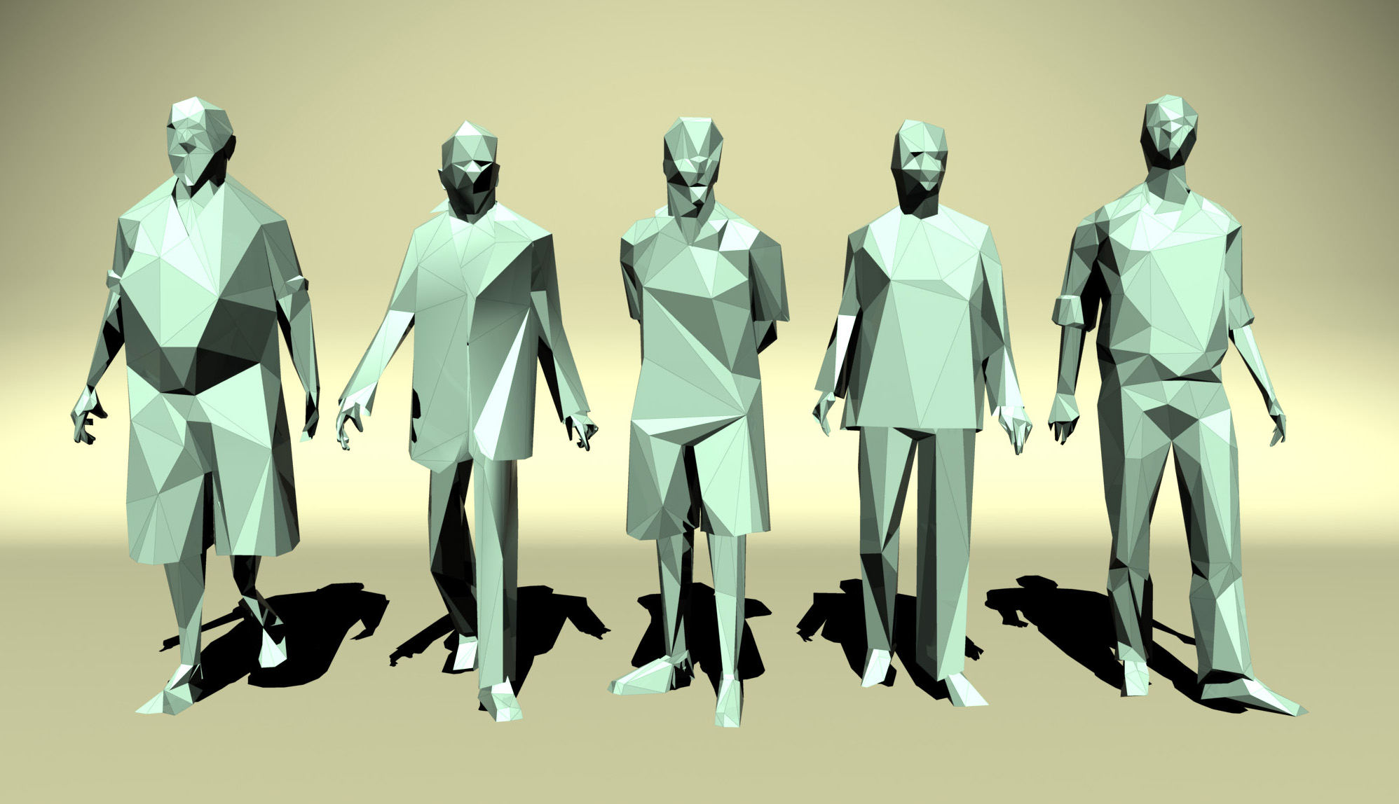 Low Poly People By Nobrandstudio 3docean