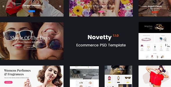 Novetty – Multi-purpose Ecommerce PSD Template