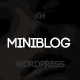 Miniblog - Multipurpose, Minimal WordPress Blog Theme - ThemeForest Item for Sale