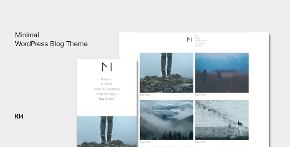 Miniblog – Multipurpose, Minimal WordPress Blog Theme