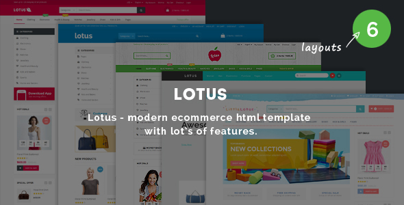 Lotus - Responsive Ecommerce Template - Fashion Retail