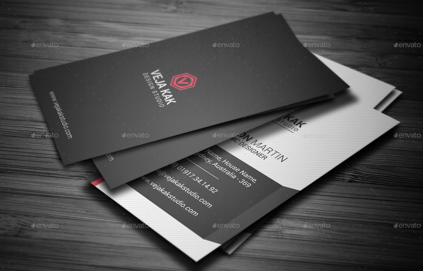 Smart Vertical Business Card by vejakakstudio | GraphicRiver