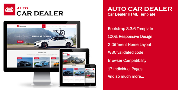 Auto Car Dealer – Car Dealer HTML Template