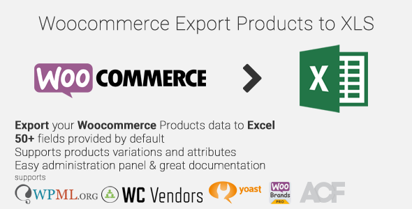 Woocommerce Export Products to XLS - CodeCanyon Item for Sale