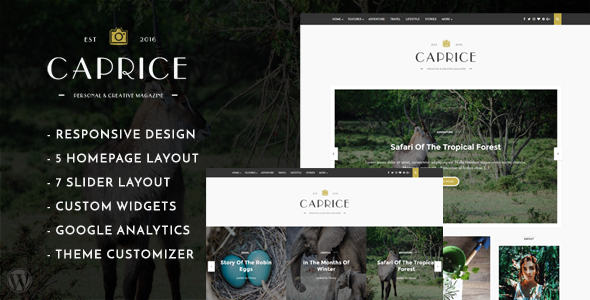 Caprice – A Creative Blog Theme