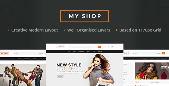 MY SHOP - Retail PSD Templates