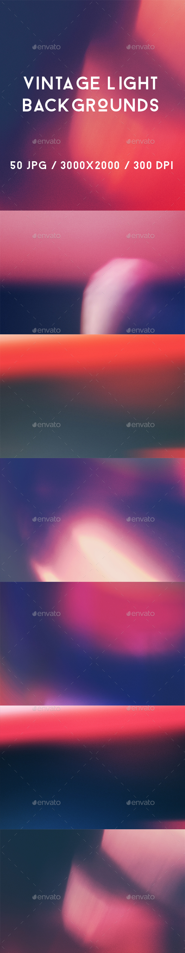 50 Vintage Light Backgrounds - Abstract Backgrounds