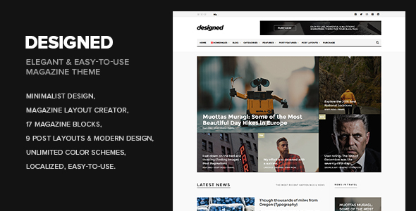 Designed – Magazine / Newspaper / Blog WordPress Theme