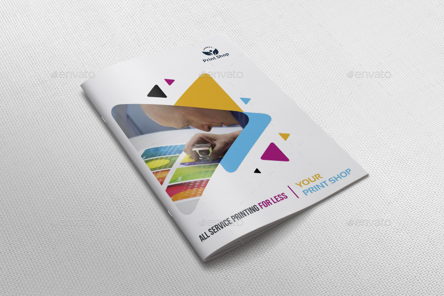 print shop brochure bundle template