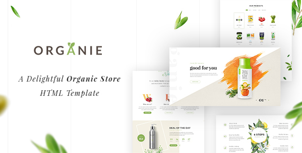 Organie HTML – An Organic Store, Farm, Cake and Flower Shop Template