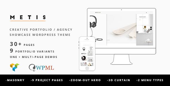 Metis - Portfolio / Agency WordPress Theme - Creative WordPress
