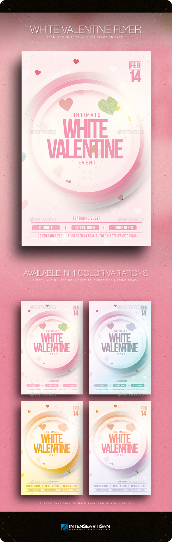 White Valentine - Flyer Template - Clubs & Parties Events