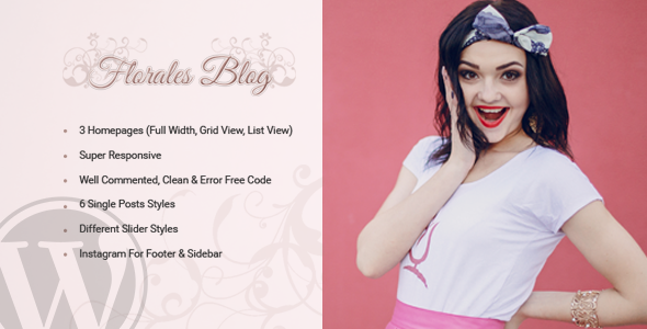 Florales Personal Blog WordPress Theme